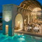 Poolside Dining at Blue Palace Resort and Spa, Greece