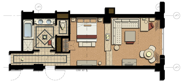 Luxury Suite Floorplan at The Venetian