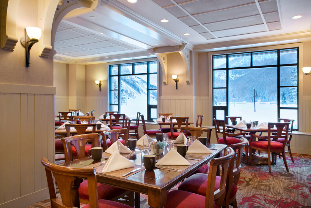 Dining at Fairmont Chateau Lake Louise, Canada
