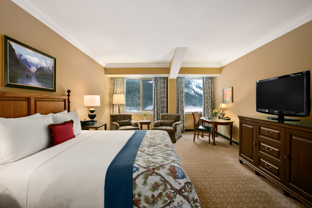 Guest Room at Fairmont Chateau Lake Louise, Canada