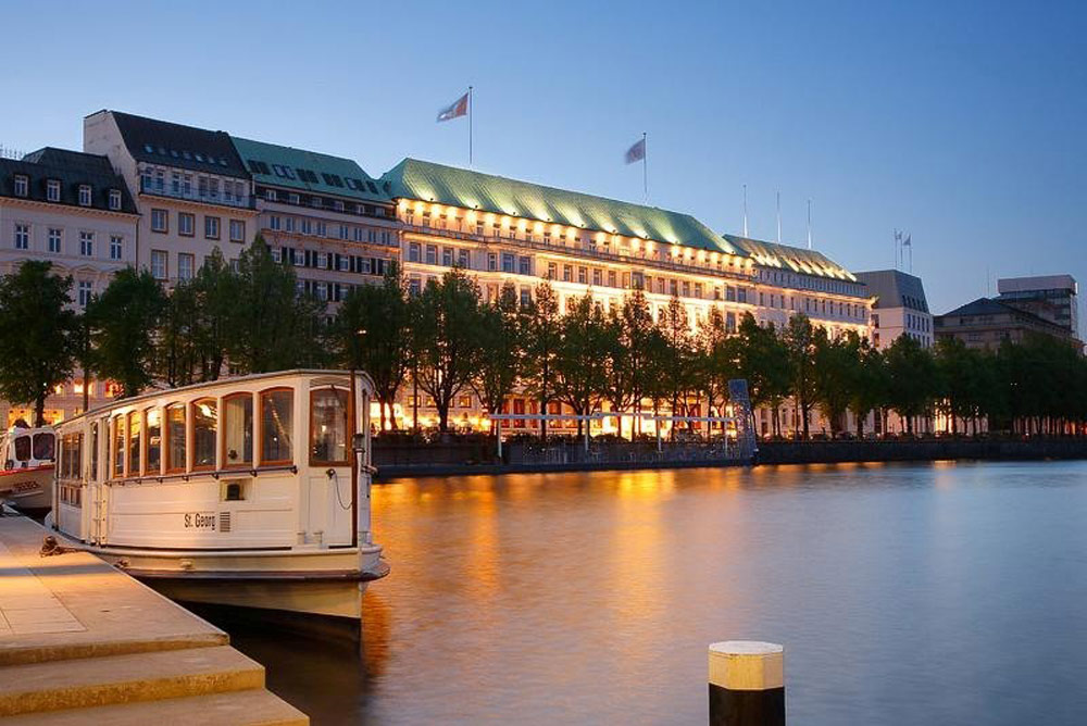 Exterior of Fairmont View Jahreszeiten Hamburg, Germany