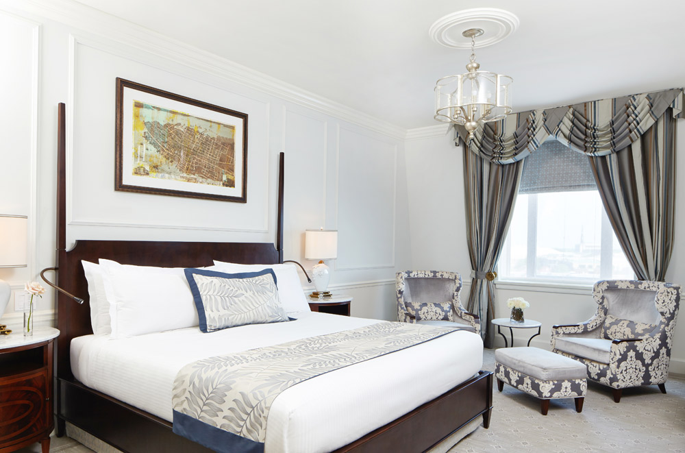A King Bed Club Room at the Belmond Charleston Place in Charleston, SC