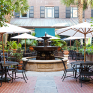 The Palmetto Cafe Courtyard at Belmond Charleston Place, Charleston, SC