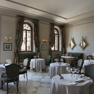 Dining at San Clemente Palace, Italy