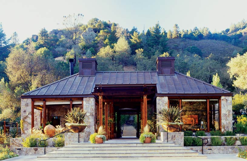 Reception area at The Calistoga Ranch Hotel