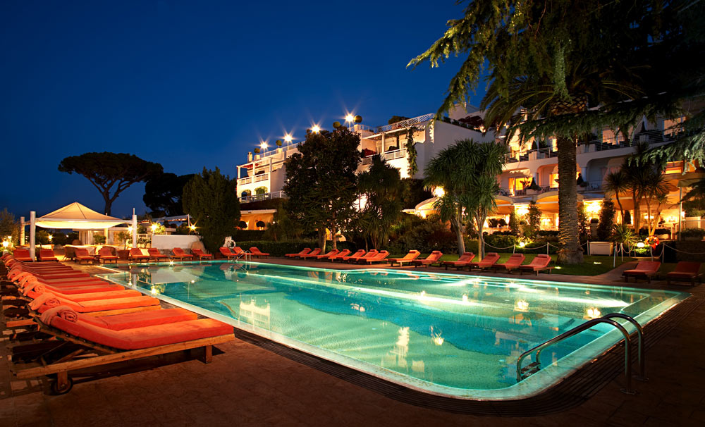 Exterior Pool View at Capri Palace Resort and Spa, Italy