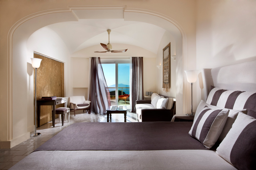 Guest Room at Capri Palace Hotel in Capri, Italy