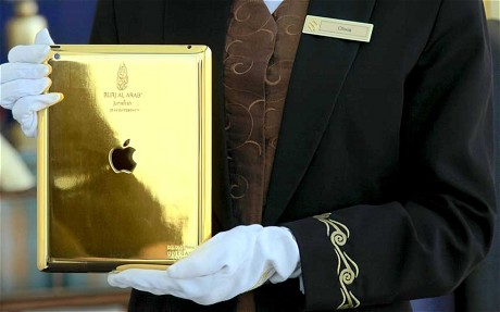 Burj Al Arab offers guests use of gold-plated iPad.