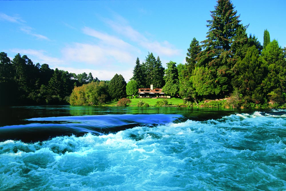 The Huka Lodge in New Zealand