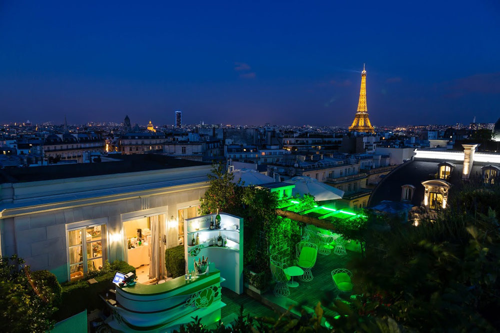 Terrace by Night at Raphael Paris