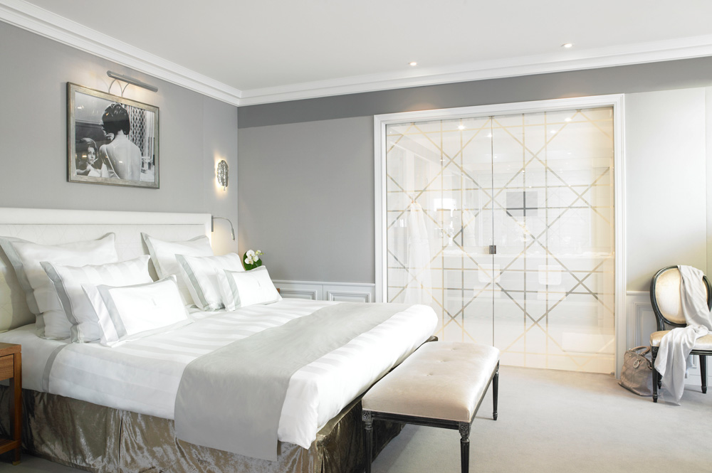 Guestroom at Hotel Barriere Le Majestic Cannes, France