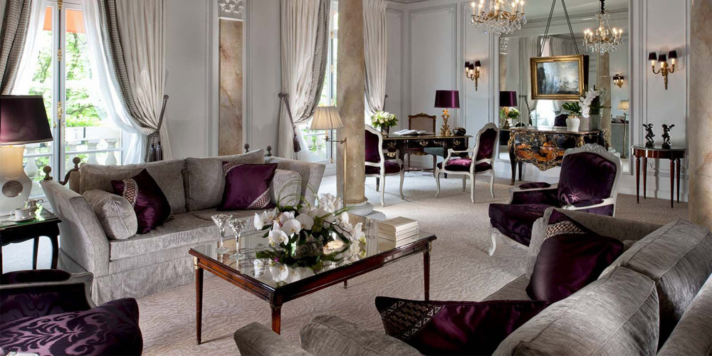Presidential Suite at the Hotel Plaza Athenee Paris