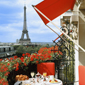 Unique View of Eifel Tower from Guest Room at the Hotel Plaza Athenee Paris