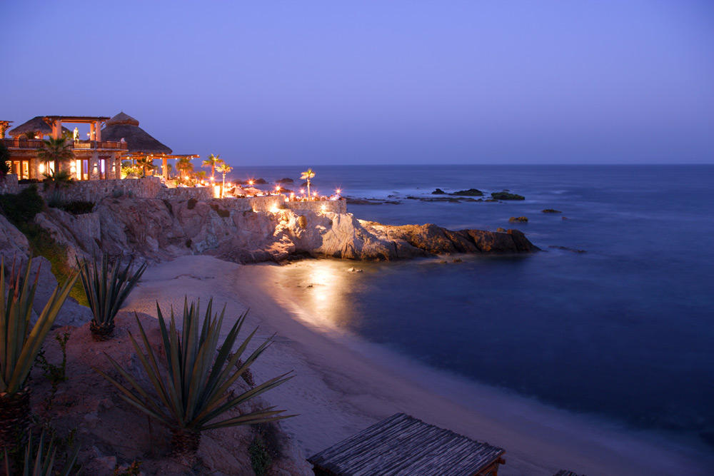 Overview of Esperanza an Auberge Resort Los Cabos at dusk