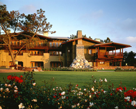 The Exterior Rear View of The Lodge at Torrey Pines, from the Golf Course