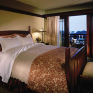 King Bed Guestroom at The Lodge at Torrey Pines