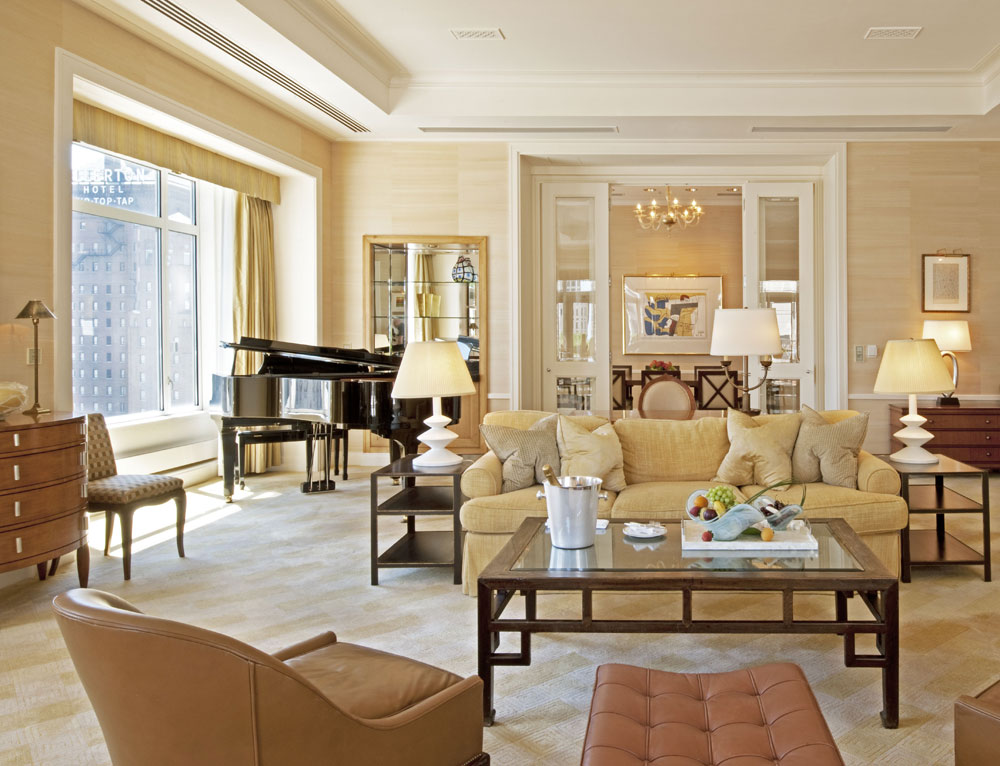 Suite living area at The Peninsula Chicago, IL
