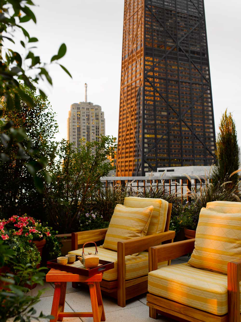 Pen Suite terrace at The Peninsula Chicago, IL