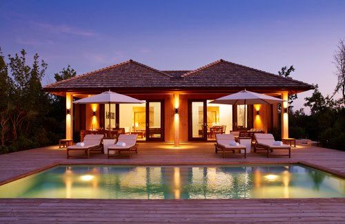 Parrot Cay Turks and Caicos Two Bedroom Beach House Pool and Exterior