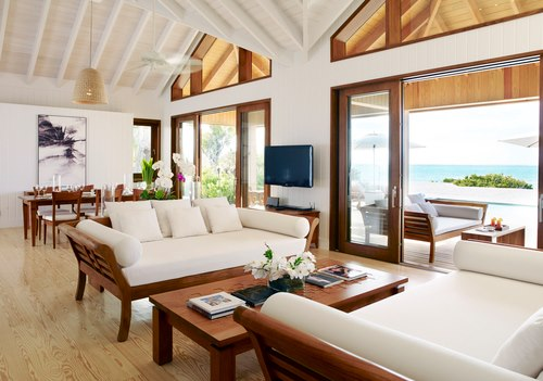 Parrot Cay Turks and Caicos Two Bedroom Beach House Interior