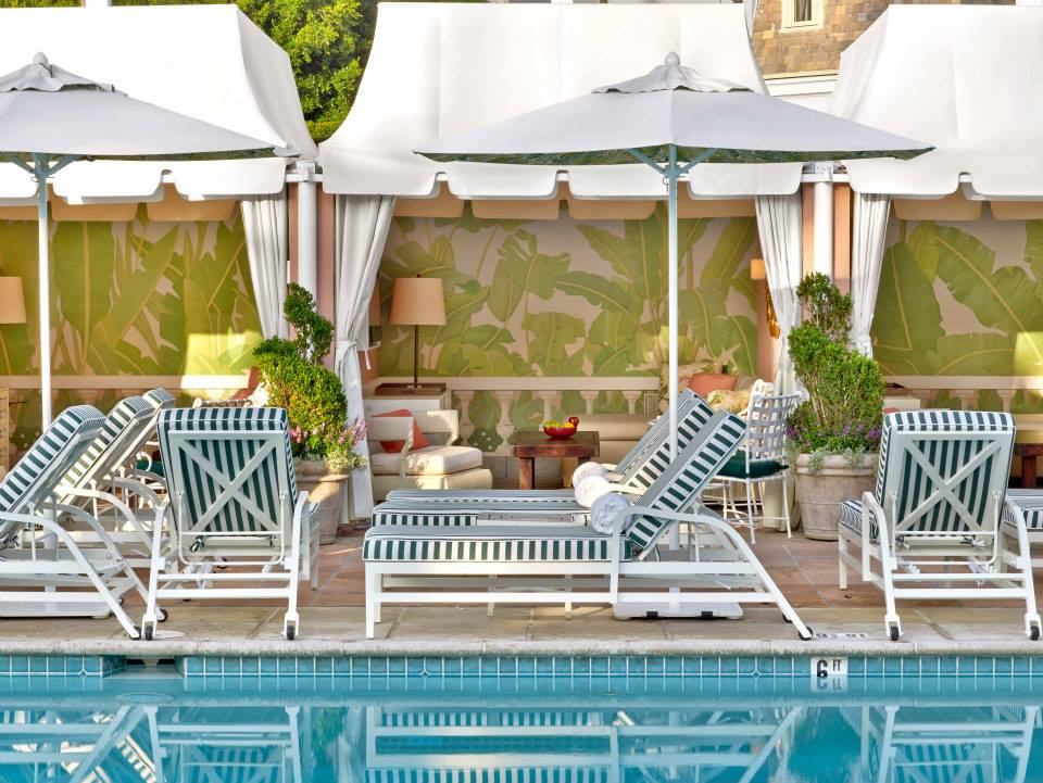 The Beverly Hills Hotel Pool Loungers