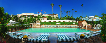 The Beverly Hills Hotel Panoramic Pool View