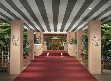 The Beverly Hills Hotel Red Carpet Entrance