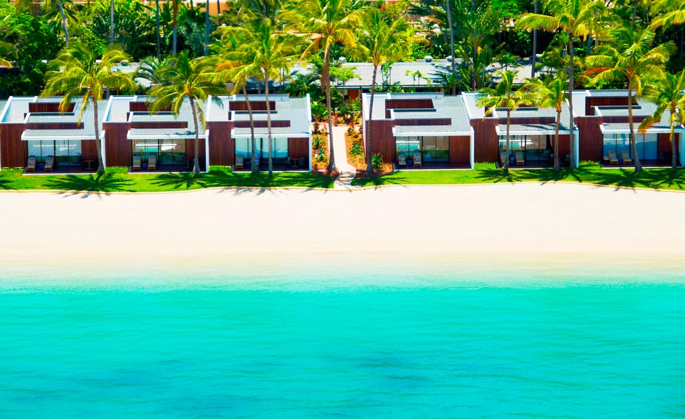 Beach Wing Exterior at The One & Only Hayman Island in the heart of the Great Barrier Reef.