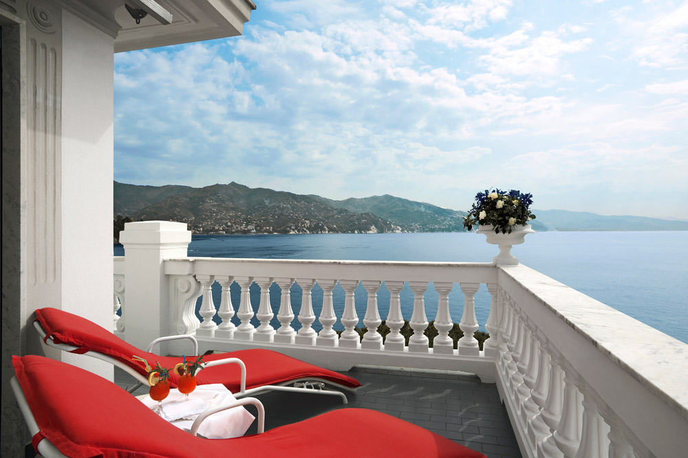 Terrace at Grand Miramare Italy