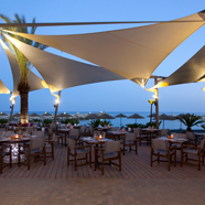 Dining at Amathus Beach Hotel, Limassol, Cyprus