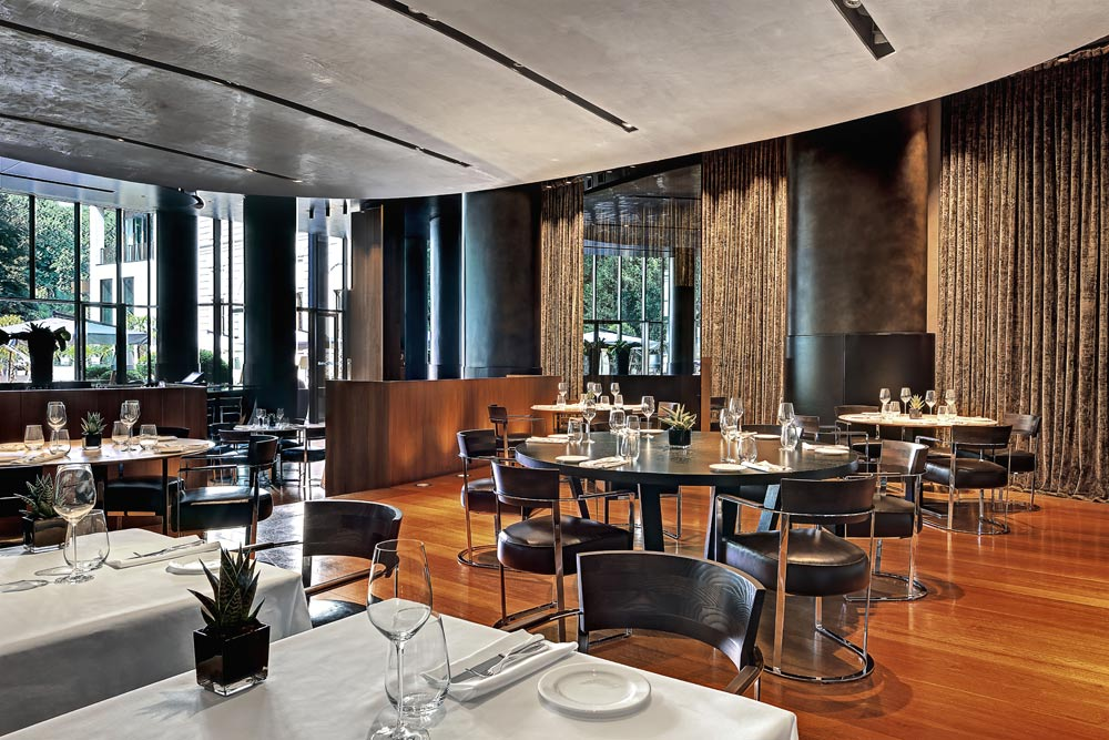 Dining at Bulgari Hotel Milan, Italy