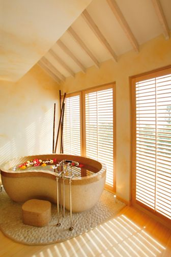 A soaking tub built for two at Elbow Beach Bermuda