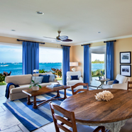 Three Bedroom Deluxe Living Room at Sunset Key Cottages, Key West, FL