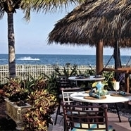 Relax and dine oceanfront at in our casual Chickee Hut at The Sandbar Grill...also perfect to grab a bite for poolside lounging.