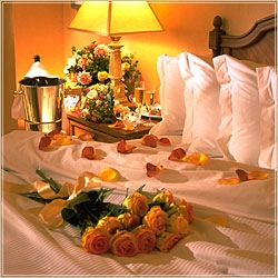 Guest Bed with Roses