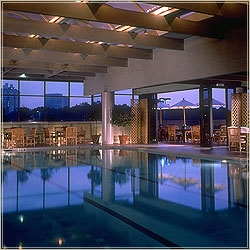 Indoor Pool Adjacent to Fitness Center