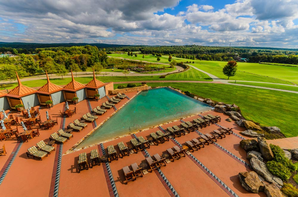 Outdoor Infinity Pool at Nemacolin Woodlands Resort and Spa, Farmington, PA