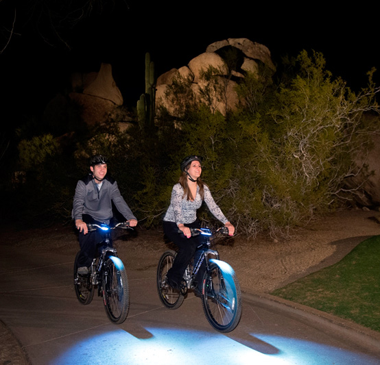 The Boulders Biking at Night