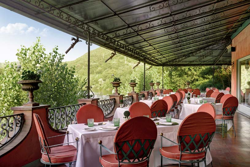 Restaurant at Villa La Massa