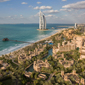 Aerial View of Al Qasr at Madinat Jumeirah Dubai