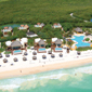 Beach view of The Fairmont Mayakoba in Playa del Carmen, Mexico