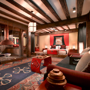 Tibetan Lodge Living Room at Banyan Tree Ringha