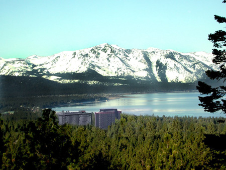 Exterior View of Harrah's Lake Tahoe Hotel and Casino