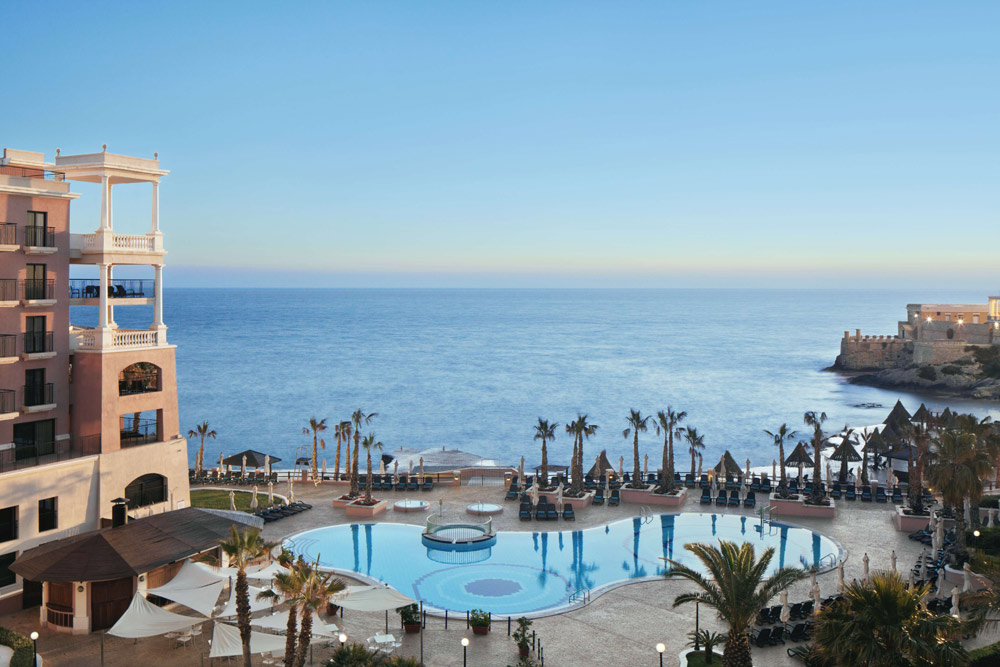 Bay View and Pool at Westin Dragonara Resort Malta