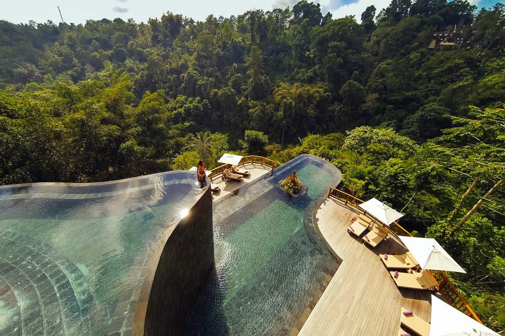 Pool at Hanging Gardens Ubud in Bali, Indonesia