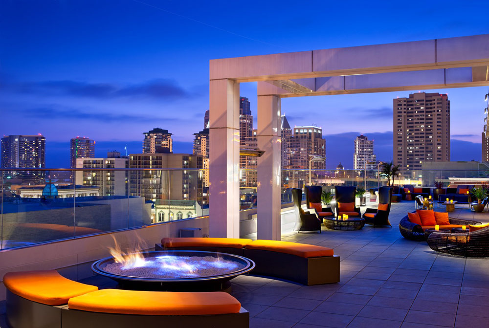Rooftop Fire Pit at Andaz San Diego