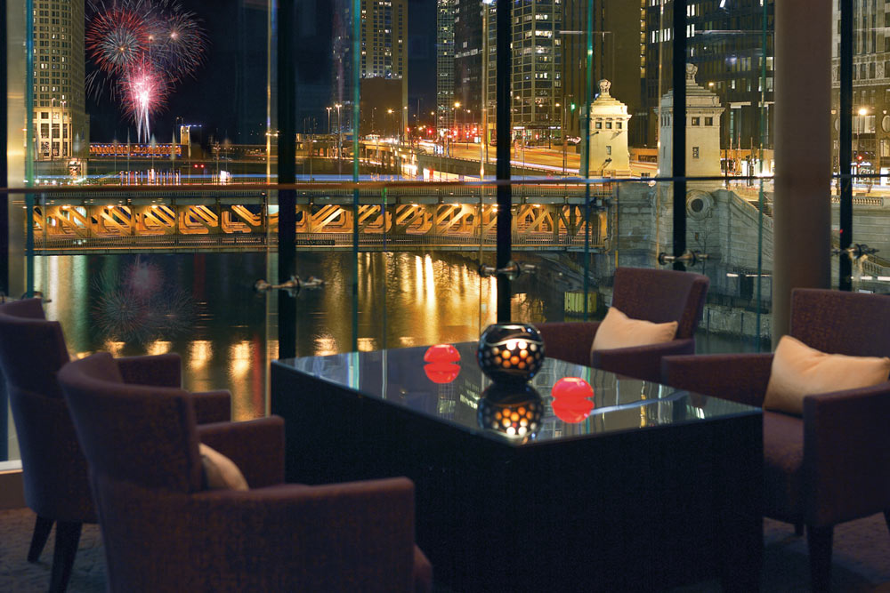 Trump Tower Rebar Fireworks at Trump International Hotel Chicago