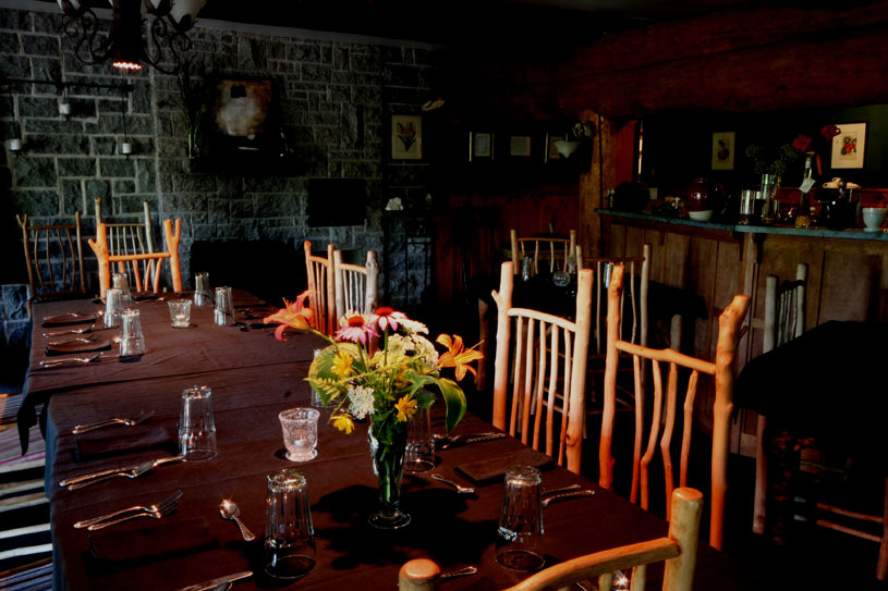 Dining Room at Trout Point Lodge
