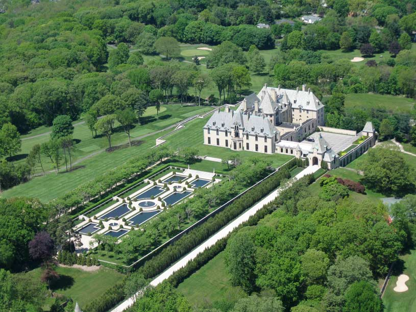 Aerial View at Oheka Castle Hotel