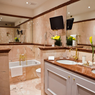 Luxury Bath at Hotel Due Torri